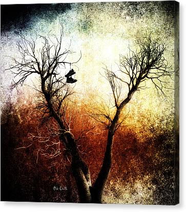 Poignant Canvas Print - Sneakers In The Tree by Bob Orsillo