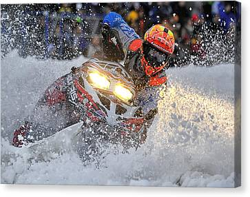 Sno-cross 2 Canvas Print by Wade Aiken