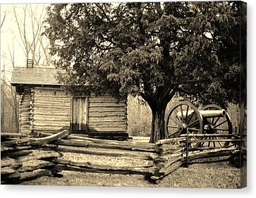 Snodgrass Cabin And Cannon Canvas Print