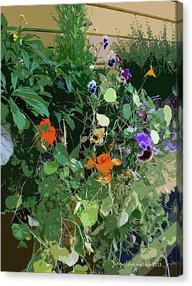 Snohomish Flowerbox  Canvas Print