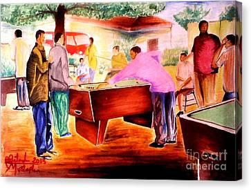 Snooker Guru  Canvas Print by Moscolexy Moscolexy