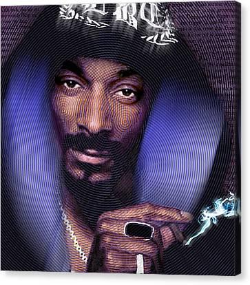 Snoop And Lyrics Canvas Print by Tony Rubino