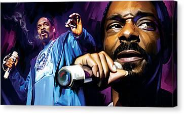 Snoop Dogg Artwork Canvas Print by Sheraz A