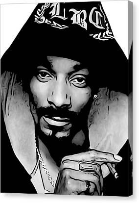 Beach Hop Canvas Print - Snoop Dogg by Dan Sproul