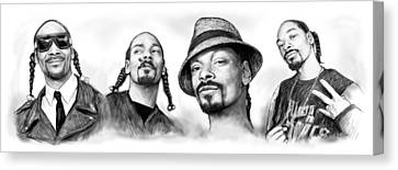Snoop Dogg Group Art Drawing Sketch Poster 30x85cm Canvas Print by Kim Wang
