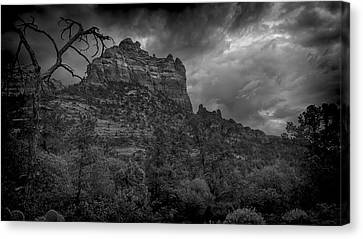 Snoopy Mountain In Black And White Canvas Print by Kelly Gibson