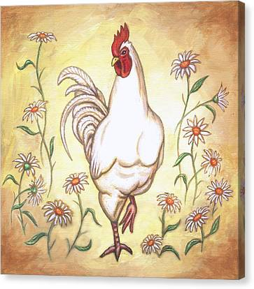 Snooty The Rooster Two Canvas Print by Linda Mears