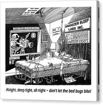 Snoozer Sleep Lab Study Canvas Print by Jack Pumphrey