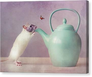 Teapot Canvas Print - Snoozy  :) by Ellen Van Deelen