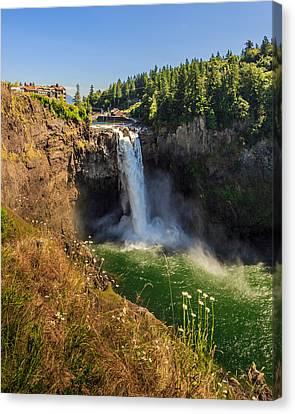 Snoqualmie Falls And Salish Lodge Canvas Print