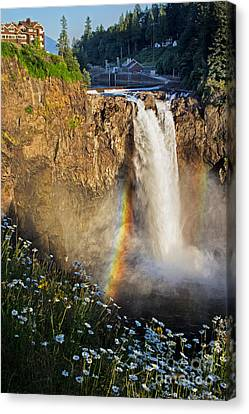 Snoqualmie Falls  Canvas Print by Sonya Lang