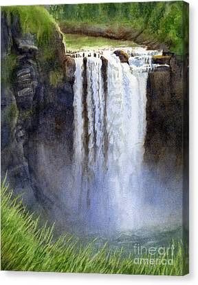 Snoqualmie Falls Without The Lodge Canvas Print by Sharon Freeman