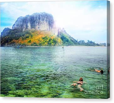 Snorkeling  Canvas Print by Anek Suwannaphoom