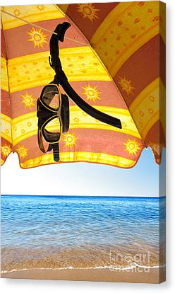 Snorkeling Glasses Canvas Print by Carlos Caetano