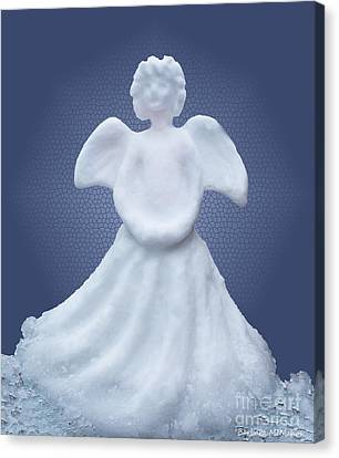 Snow Angel Canvas Print by Barbara McMahon