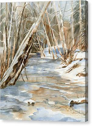Snow Landscape Canvas Print - Snow At Cameron Creek by Sharon Freeman