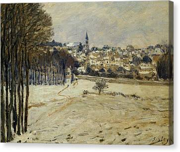 Snow At Marly-le-roi Canvas Print by Alfred Sisley