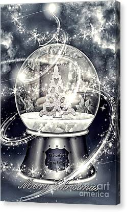 Snow Ball Canvas Print by Mo T