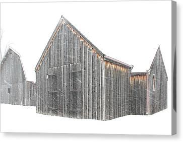 Canvas Print featuring the photograph Snow Barns by Christopher McKenzie