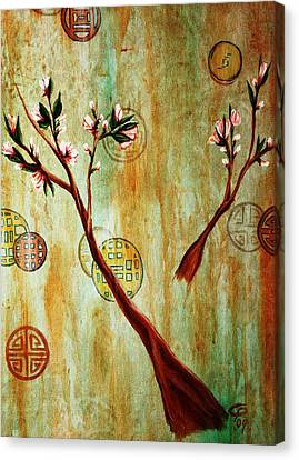 snow blossoms II Canvas Print by Christine Maeda