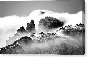 Snow Blown Rockies Canvas Print