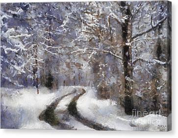 Snow Came Canvas Print