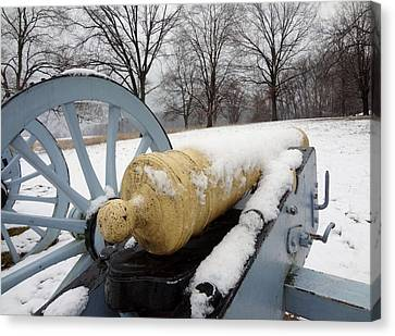 Canvas Print featuring the photograph Snow Cannon by Michael Porchik