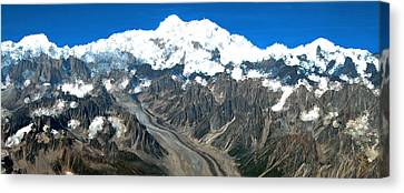 Snow Capped Canyon Canvas Print