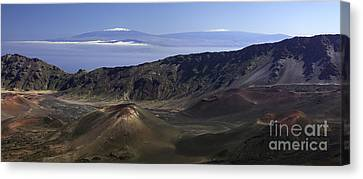 Snow Capped Mountains In Hawaii Canvas Print by Frank Wicker