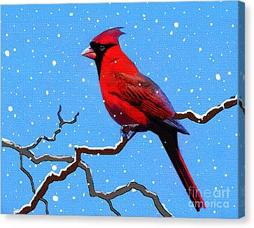 Snow Card Canvas Print by Robert Foster