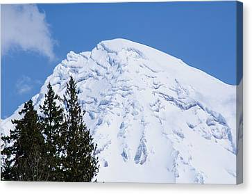 Snow Cone Mountain Top Canvas Print by Tikvah's Hope