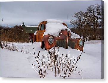 Snow Covered De Soto Canvas Print by Chuck De La Rosa