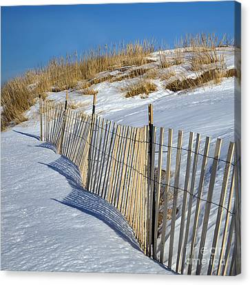 Snow Covered Dunes Canvas Print by Twenty Two North Photography