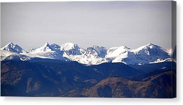 Snow Covered Indian Peaks Canvas Print