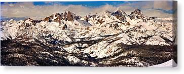 Urban Scenes Canvas Print - Snow Covered Landscape, Mammoth Lakes by Panoramic Images