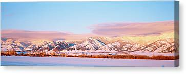 Snow Covered Mountains, Bridger Canvas Print by Panoramic Images