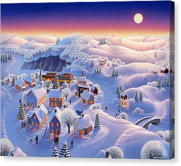 Snow-covered Landscape Canvas Print - Snow Covered Village by Robin Moline