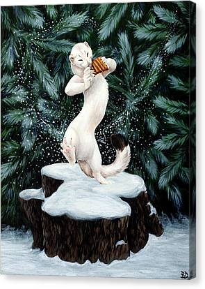 Snow Dance Canvas Print by Beth Davies