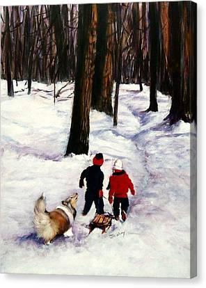 Snow Days Canvas Print by Jeanne  McNally
