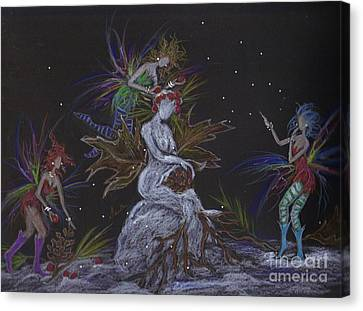Snow Dryad Canvas Print