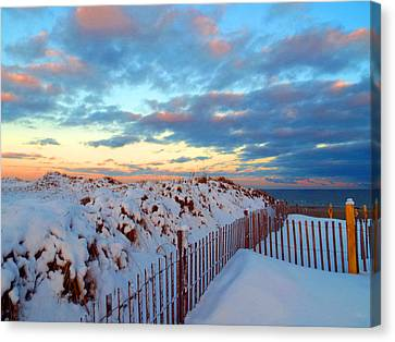 Snow Dunes At Sunrise Canvas Print