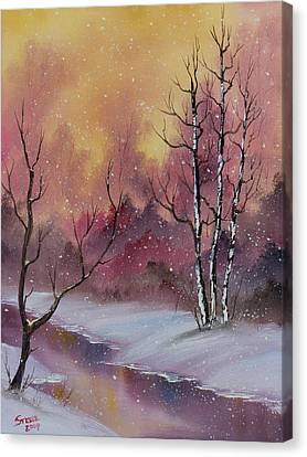 Bob Ross Canvas Print - Winter Enchantment by Chris Steele