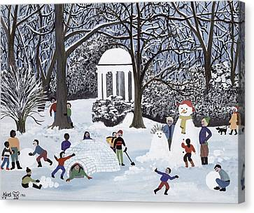 Snow Follies Canvas Print by Judy Joel