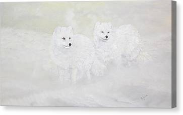 Snow Ghosts Of The North Canvas Print by Johanna Lerwick