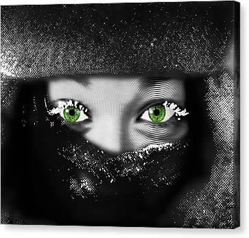 Snow Girl Horizontal Canvas Print
