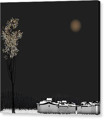 Snow Canvas Print by GuoJun Pan