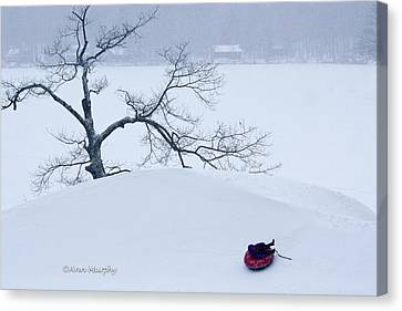 Canvas Print featuring the photograph Snow Hill Ride by Ann Murphy