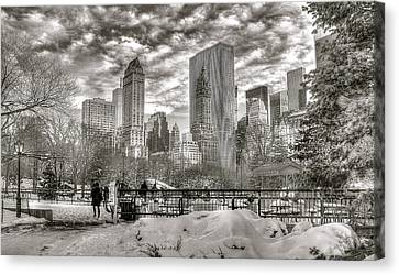 Snow In N.y. Canvas Print