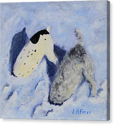 Snow Jacks Canvas Print by Linda Freed