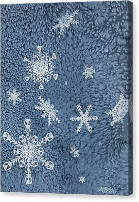 Canvas Print featuring the painting Snow Jewels by Margaret Bobb
